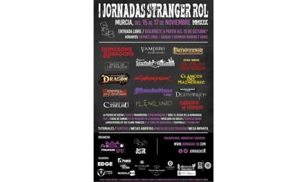 Las JORNADAS STRANGER ROL (JSR) se realizarán del 15 al 17 de noviembre en Murcia