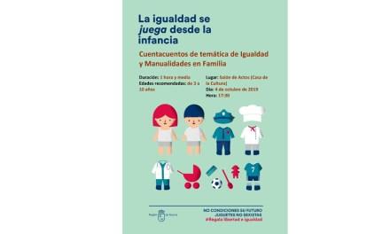 La Casa de la Cultura de Caravaca acoge este viernes cuentacuentos y juegos dentro de la campaña 'La igualdad se juega desde la infancia'