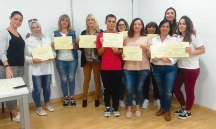 Entrega de diplomas del curso de Gerontología de Campos del Río
