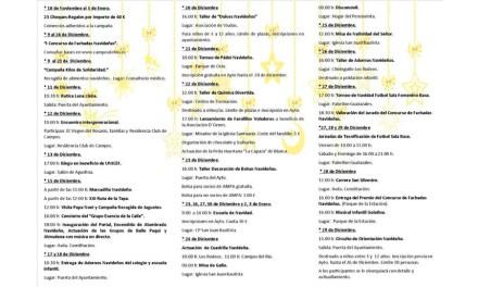 El Ayuntamiento de Campos del Río junto a diversos colectivos y voluntarios del municipio organiza un extenso programa de actividades para las fiestas navideñas