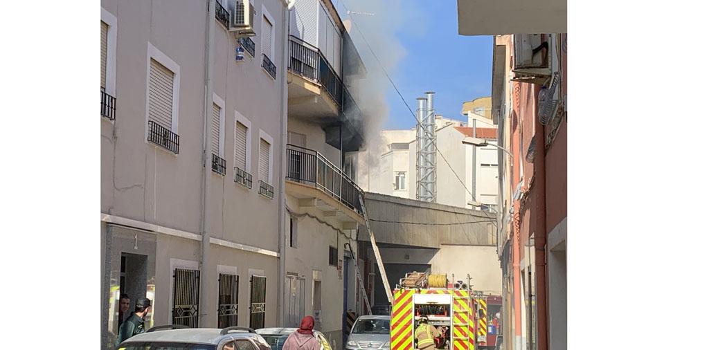 Incendio en una vivienda del Barrio de La Paz