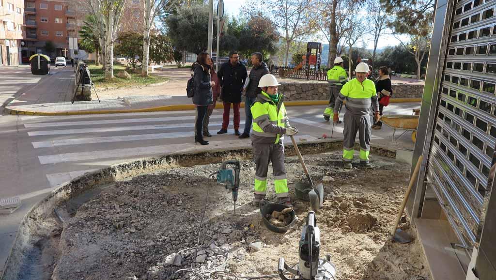 El Ayuntamiento de Caravaca realiza obras de reparación y mejora de accesibilidad en aceras de 'El Cejo' y 'Ciudad Jardín'