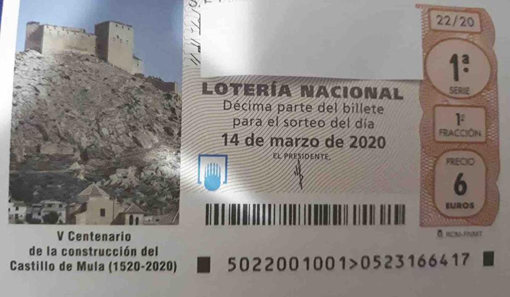 El castillo de Mula ilustra la lotería