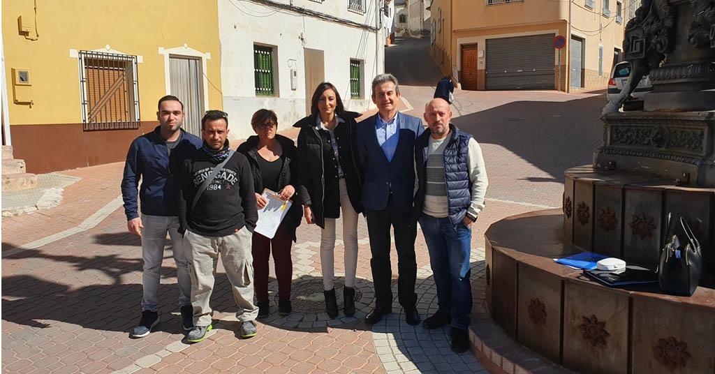 Ciudadanos da un nuevo impulso al arreglo del tramo de la RM-B30 de Benizar