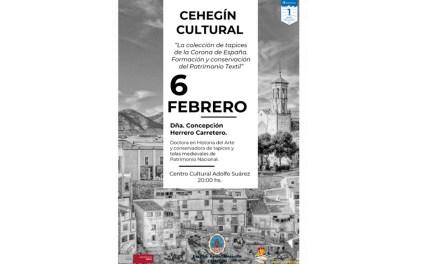 """La profesora y conservadora del Patrimonio Nacional, Concepción Herrero, impartirá la segunda conferencia del """"Cehegín Cultural"""""""