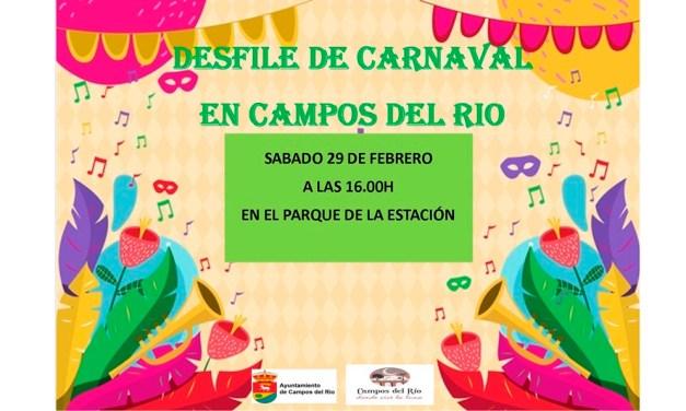 Este sábado, gran desfile de Carnaval en Campos del Río