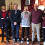 Recibimiento del Alcalde a la jugadora muleña de Fútbol Sala, Natalia Martínez Risueño