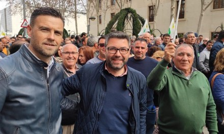 José Antonio García ha demandado el compromiso firme de todas las administraciones con el sector durante las protestas de los agricultores en Murcia