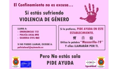 """Campaña """"El Confinamiento no es excusa. Mula contra la Violencia de Género"""""""