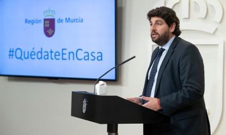"""López Miras remarca que """"lo más importante ahora es salvar vidas"""" y apela al trabajo común para """"volver cuanto antes a la normalidad"""""""