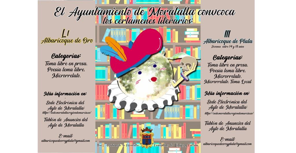 El Ayuntamiento de Moratalla ha convocado una nueva edición de los certámenes literarios Albaricoque de Oro y de Plata