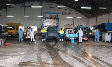 Las labores de desinfección son diarias y desde el Ayuntamiento de Bullas agradecen al equipo humano que las lleva a cabo