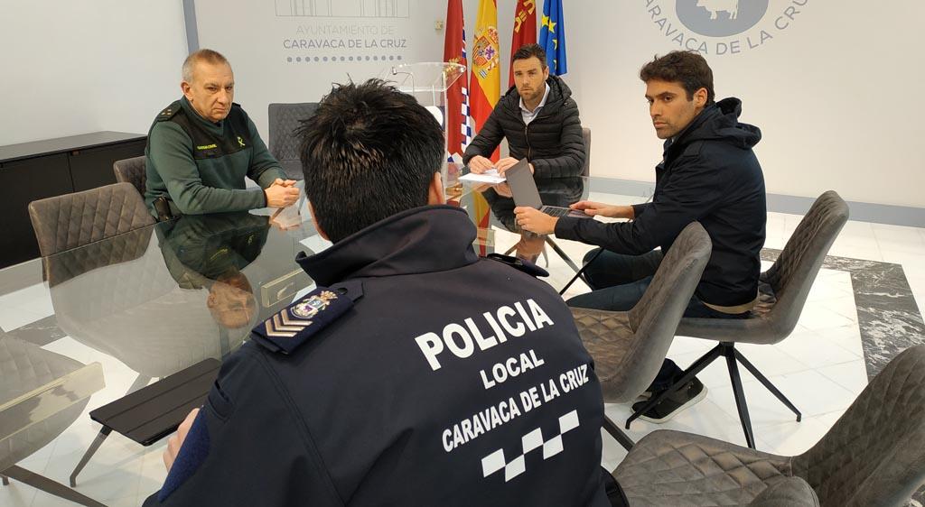 El Ayuntamiento de Caravaca celebra la segunda Mesa de Coordinación Policial para continuar coordinando el dispositivo especial de las Fuerzas de Seguridad