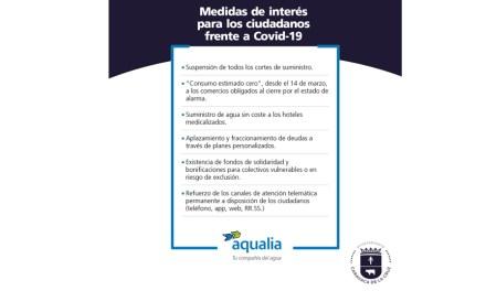 El Ayuntamiento de Caravaca y Aqualia ponen en marcha medidas extraordinarias para garantizar a todos los vecinos el suministro de agua, entre ellas la interrupción de los cortes por impago, mientras estén vigentes las normas excepcionales del COVID 19