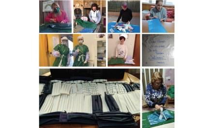 Voluntarios de Cehegín confeccionan 1500 batas y 1000 mascarillas para los centros sanitarios