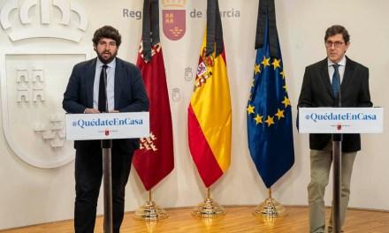 López Miras propone a Sánchez un marco bilateral con la Región de Murcia para abordar la desescalada