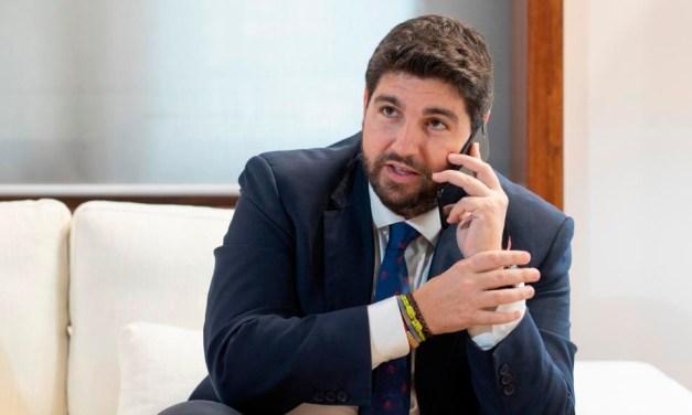 Fernando López Miras: «Dos no pactan si uno no quiere, y está claro que el Gobierno de Sánchez e Iglesias tiene otras preferencias, otros compromisos, otros socios»
