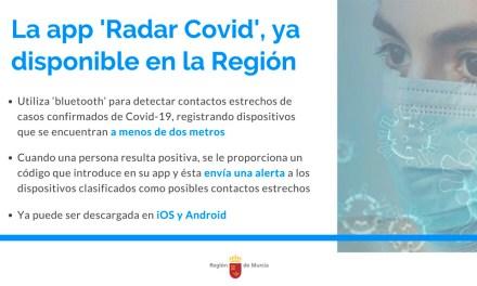 La aplicación 'Radar Covid' ya está disponible en la Región