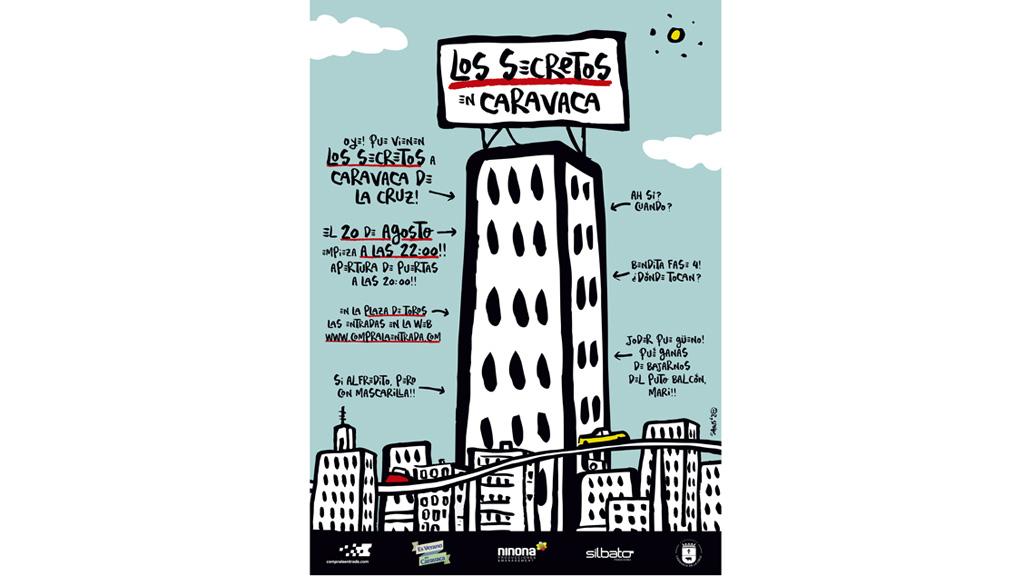 La mítica banda 'Los Secretos' actúa en la Plaza de Toros de Caravaca de la Cruz el próximo 20 de agosto, dentro de la programación municipal de verano