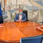 José Vélez recibió a los alcaldes de Calasparra y Cieza para conocer el acuerdo de trabajo para la puesta en marcha de la Vía verde del Camarillas