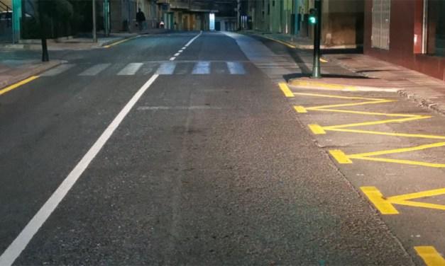 El ayuntamiento de Cehegín realiza el repintado integral de todas las señales viales del pavimento del municipio