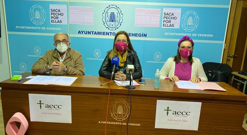 Cehegín conmemorará estos próximos días con varias actividades el Día Mundial Contra el Cáncer de Mama