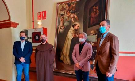 El convento de los Carmelitas de Descalzos de Caravaca recupera un cuadro de San Juan de la Cruz