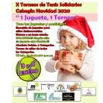 """La décima edición los Torneos de Tenis Solidarios """"1 juguete, 1 torneo"""" se celebrará el 2 y 3 de enero"""