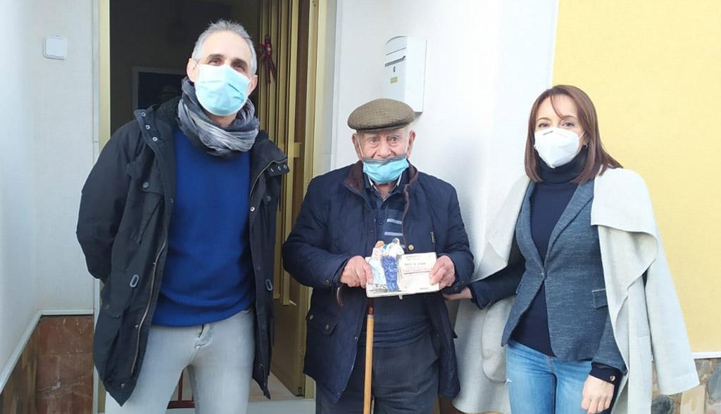 Emotivo homenaje a Juan de los Carrascos, vecino de Bullas que ha cumplido 100 años