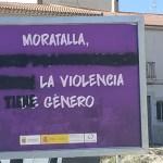 El Ayuntamiento de Moratalla rechaza las pintadas aparecidas en los carteles contra la violencia de género