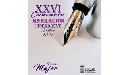 La Concejalía de Igualdad de Bullas convoca el Concurso de Relatos Hiperbreves con el tema 'Mujer'