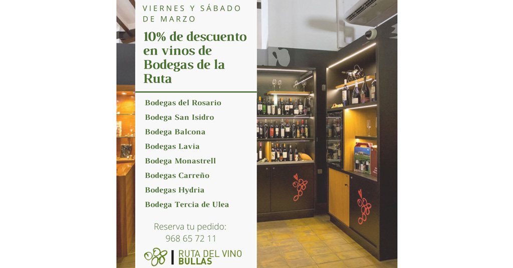 Ayuntamiento y Ruta del Vino organizan acciones promocionales para dar a conocer la riqueza enoturística de Bullas
