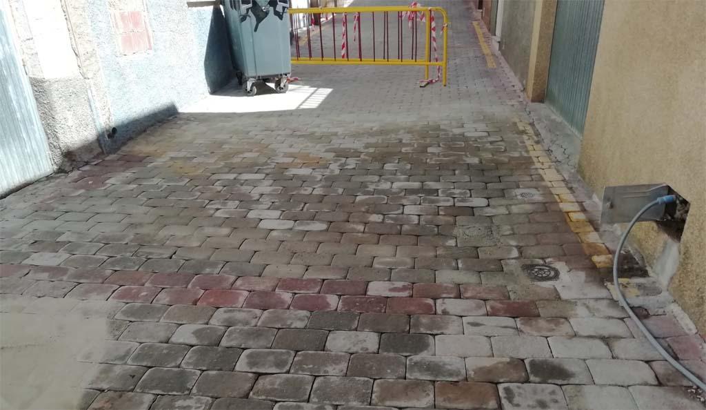 Finalizan en Bullas las obras de adecuación de las aceras de la Calle Fútbol Viejo