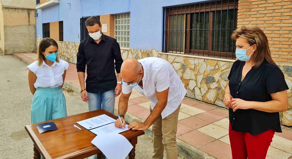 El albergue de la pedanía de La Almudema reabre sus puertas tras años cerrado para ser sede de encuentros juveniles europeos
