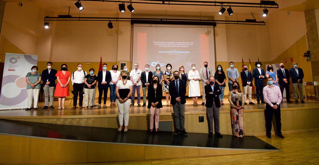 Los ayuntamientos de la región se comprometen a no dejar a ningún estudiante de la UMU atrás