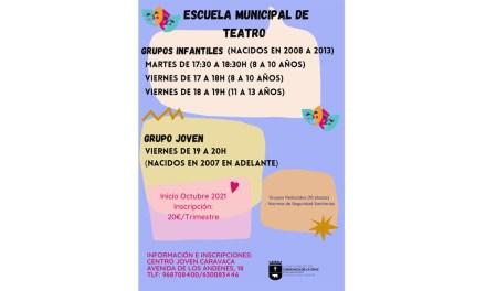 El Ayuntamiento de Caravaca abre el plazo de inscripción en la Escuela Municipal de Teatro con grupos infantiles y juveniles