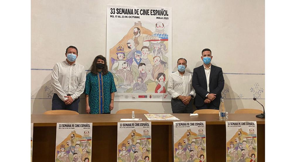 La artista murciana Rocío La Pequeña ilustra el cartel de la 33 Semana de Cine Español de Mula