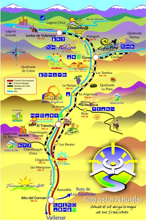 Resultado de imagen de mapa Valle de Huasco