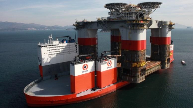 """buque de transporte pesado semisumergible """"Vanguard""""  Foto: especial"""