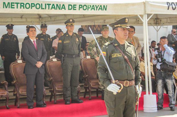 Se posesionó el nuevo comandante de la Policía Metropolitana.