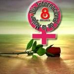 8 de Marzo aniversario del dia Internacional de la mujer con amistad