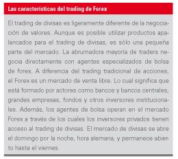 caracteristicas del trading de forex