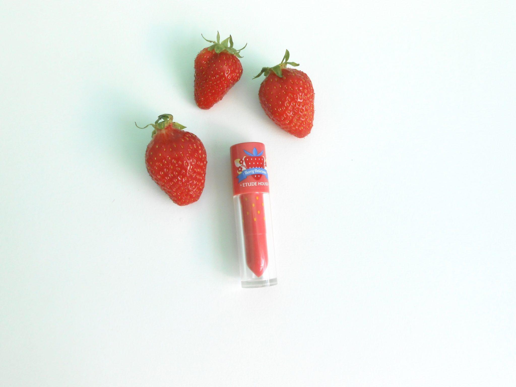 Des fraises en lip tint avec Etude House