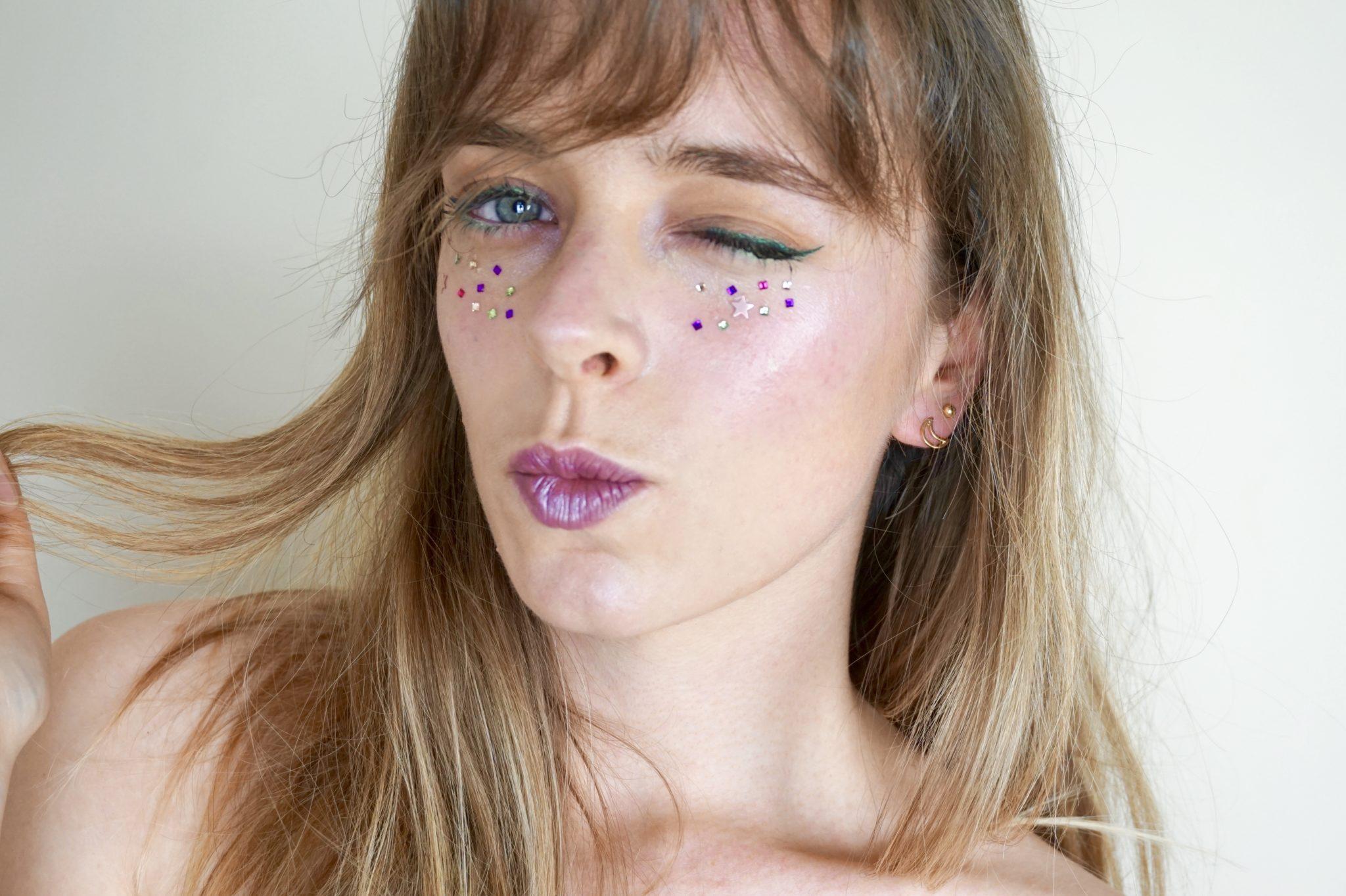 Lime & Purple Strass Makeup