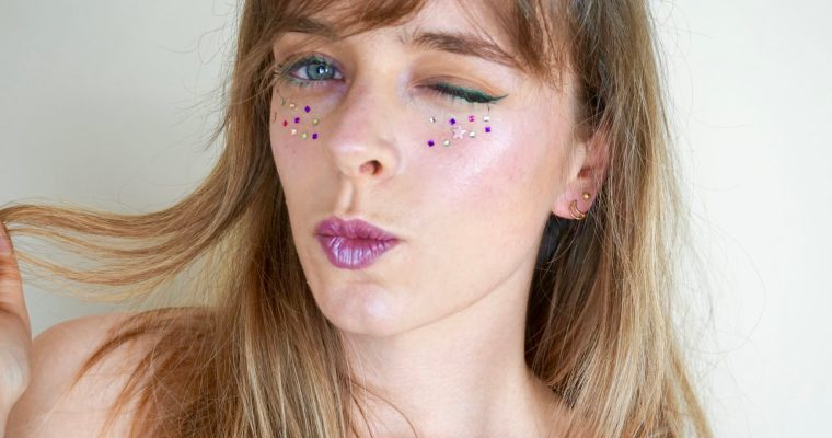 Lime & Purple Strass Makeup