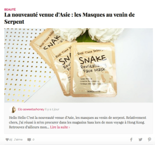 Masques au serpent