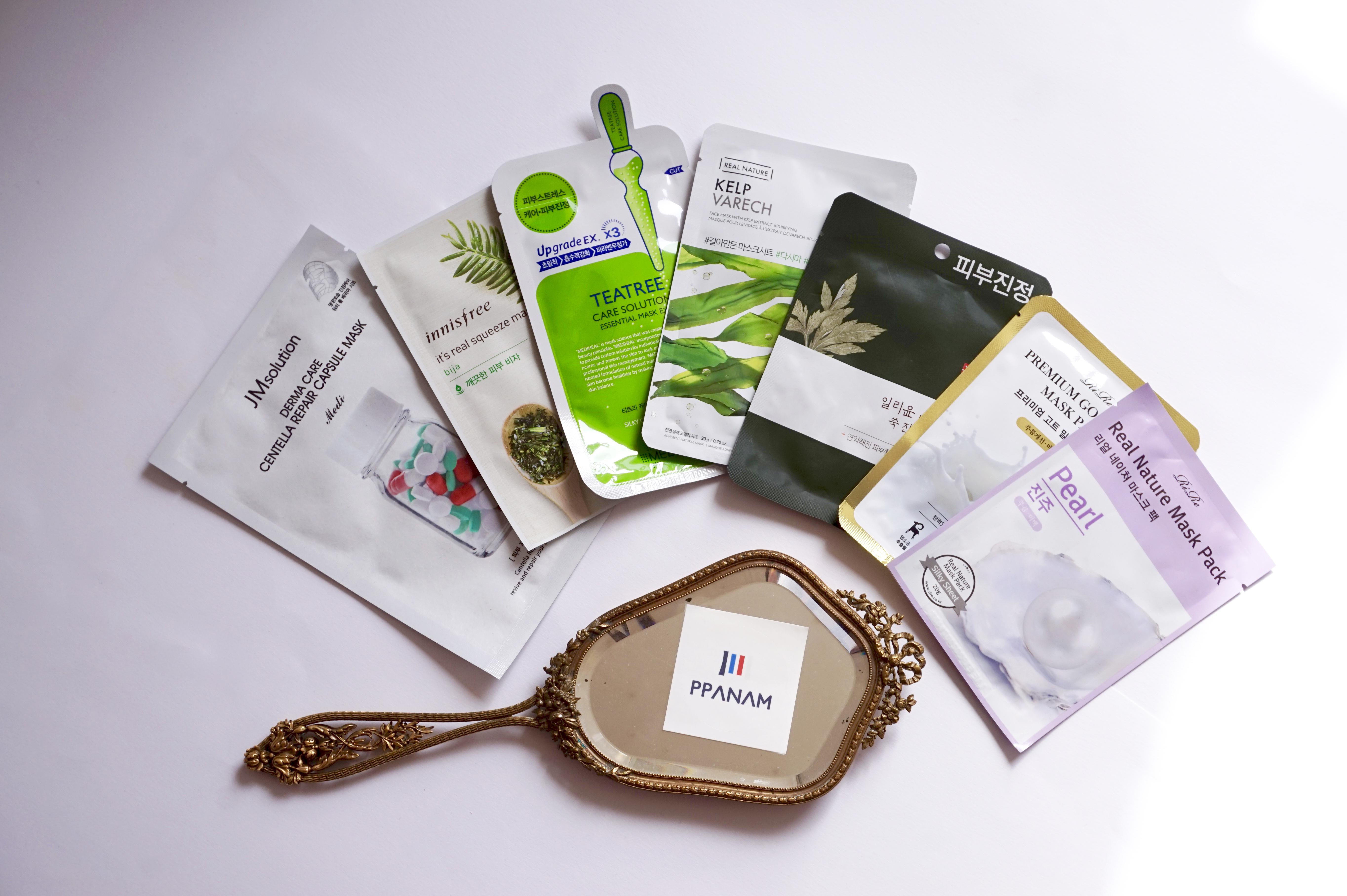 Coffret Printemps Coréen de Masques en Tissu Ppanam