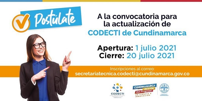 Cundinamarca invita a participar en la actualización del Consejo de Ciencia y Tecnología