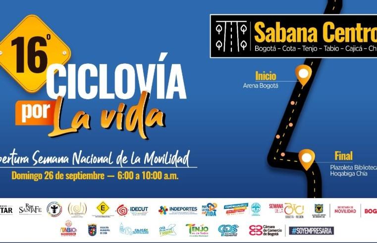 'Cicloruta por la vida – pedaleando por Cundinamarca' se tomará la Sabana Centro
