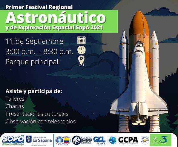 Sopó celebra su Primer Festival Astronáutico y de Exploración Espacial